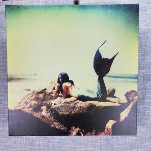 Claire Oring Mermaid Wrapped Canvas Art 20x20 UO